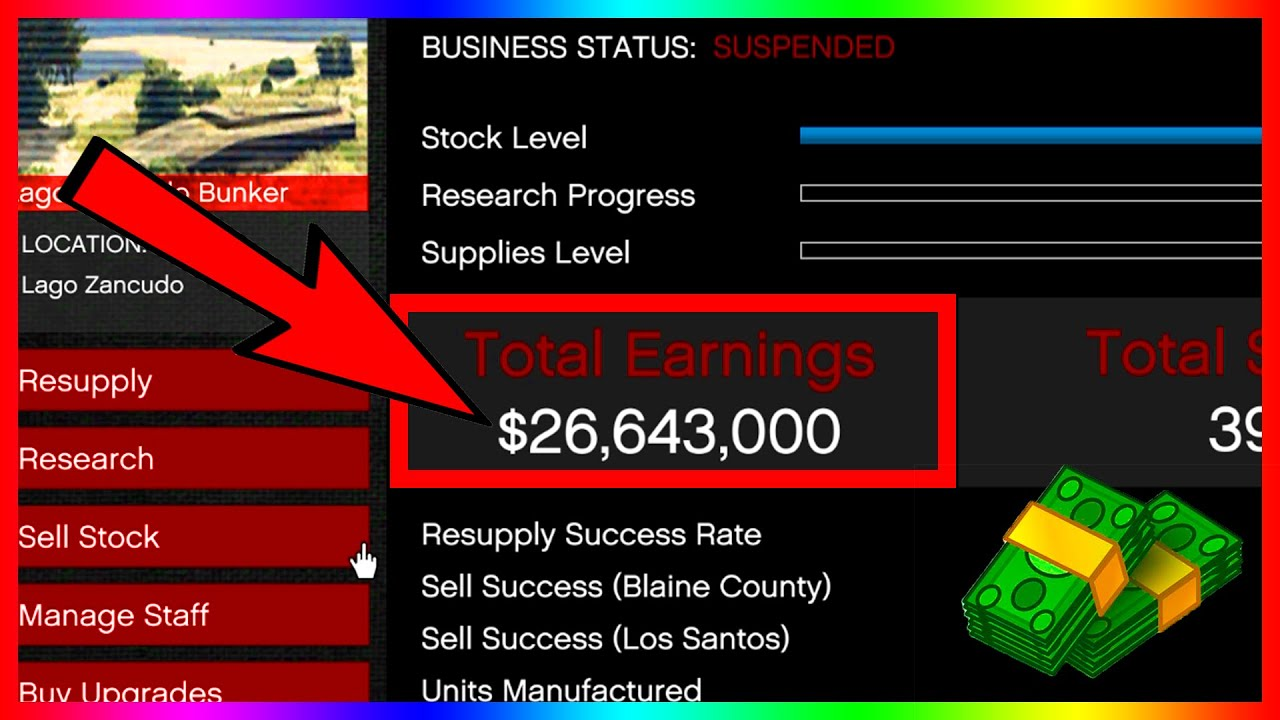 How To Make Millions With The Bunker In Gta V Online Youtube