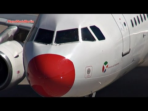 DAT Danish Air Transport Airbus A320 at Gate 2 in Berlin-Tegel