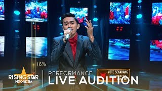 Andhika Irwan - End Of The Road | Live Audition 6 | Rising Star Indonesia 2019