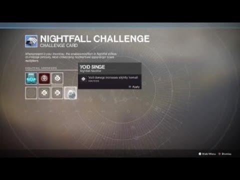 Destiny 2 New Nightfall Challenge Card