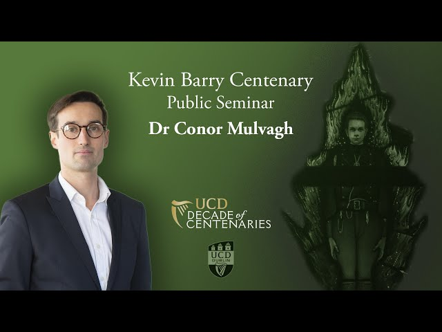 Kevin Barry in Memorial and Memory | Dr Conor Mulvagh