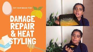 DIY Girls Guide to Damage Repair Heat Styling Hair Mask