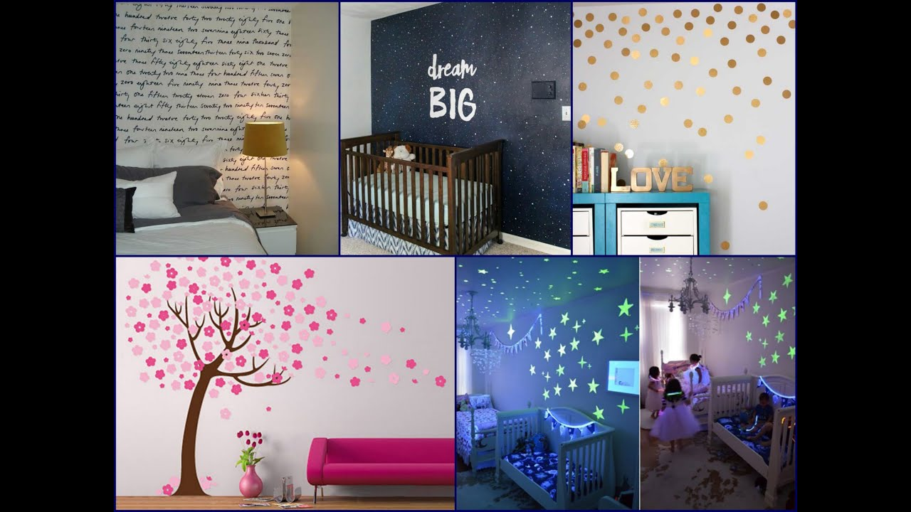 Diy wall painting ideas easy home decor youtube for Home paint ideas design