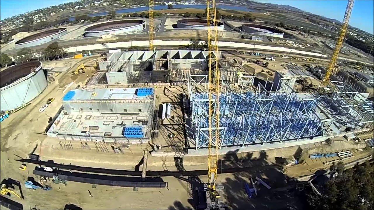 Desalination Plant Construction Flyover January 17 2014