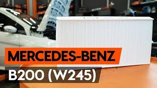 Como substituir filtro do habitáculo no MERCEDES-BENZ B200 (W245) [TUTORIAL AUTODOC]