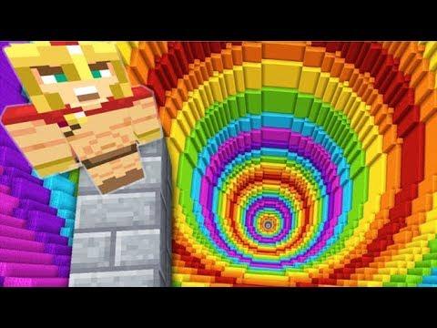 MEGA RAINBOW DROPPER SUR MINECRAFT ! Dropper X : The Final Drop !