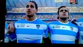 Himno Argentino -Los Pumas - Australia - Rugby World Cup 2015