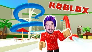 Roblox: BUILD A WATER PARK FOR 250,000€! HOW MANY SLIDES CAN I BUILD? Waterpark Tycoon