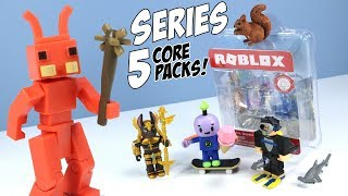 Roblox Series 5 Core Packs Unboxing Toys + Code Items Jazwares
