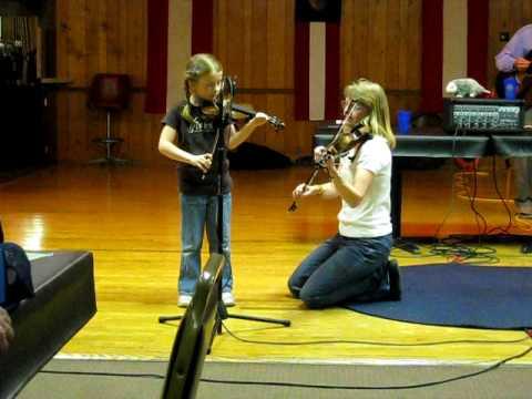 Emma Lee Dorman & Sue Tillotson playing fiddle at ...
