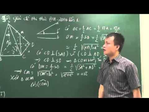 Luyện thi đại học môn toán 2015: Đề thi thử ĐH Môn toán lần 1