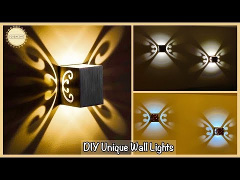 Unique Wall Decor With Lights| gadac diy| wall decoration ideas| wall hanging craft ideas| diy craft