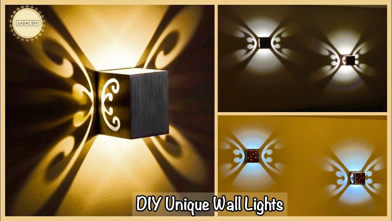 Unique Wall Decor With Lights| gadac diy| wall decoration ...