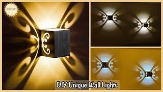 Unique Wall Decor With Lights| gadac diy| wall decoration ideas| wall hanging craft ideas| diy craft