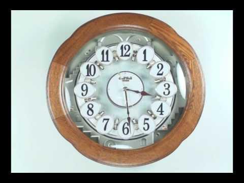 Angel Blossom Rhythm Small World Musical Clock