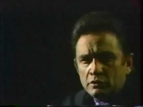 Johnny Cash sings and speaks about war (1969)