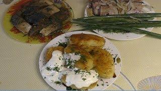 Скумбрия в соевом соусе, и мятая картошка,МоиРецепты#Скумбрия