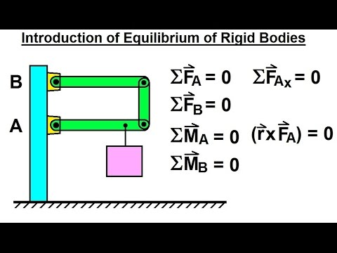 Mechanical Engineering: Equilibrium of Rigid Bodies (1 of 30) Introduction