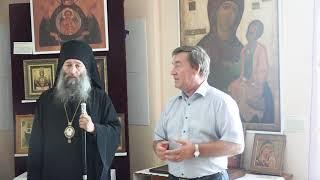 Заместитель главы Чугуевского района С. А.Сидоров о выставке икон в Чугуевке