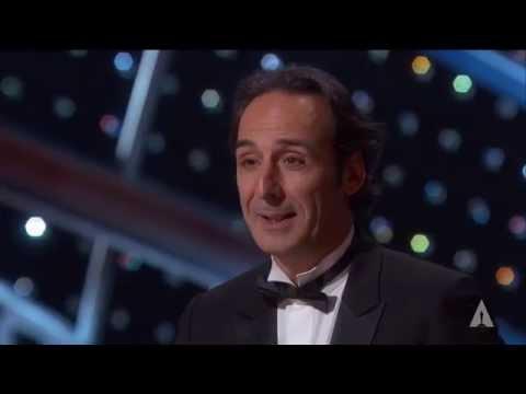 "Alexandre Desplat winning Best Original Score for ""The Grand Budapest Hotel"""