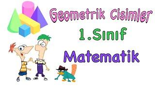 1. Sınıf Geometrik Cisimler (Matematik) 📦Küp 🛢Silindir ⛺️Üçgen Prizma🗃 Dikdörtgen Prizma