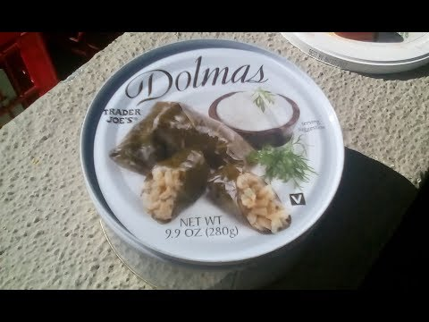Ⓥ Dolmas (Stuffed Grape Leaves) a review