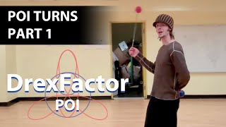 Basic Poi Spinning and Dancing Tutorial: Turns part 1