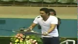bengali actor Dev giving his speech