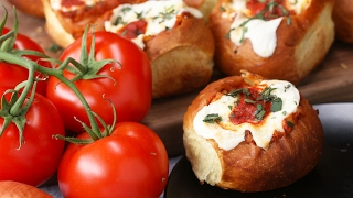 Cheesy Chicken Parmesan–Stuffed Rolls