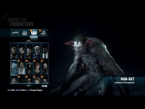Batman: Arkham Knight 1080p30 - Full Showcase Vehicles, Dresses, Characters, Enemies - #61