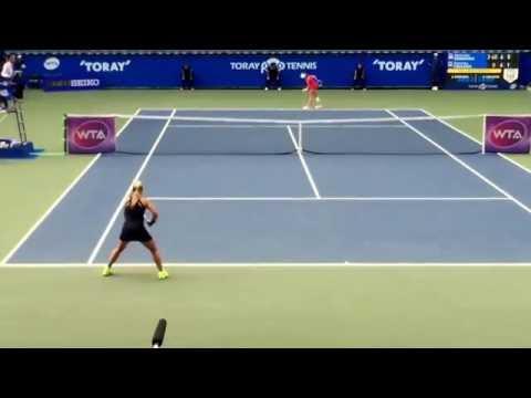 2015 WTA Tokyo(Toray PPO) semifinal D.Cibulkova vs A.Radwanska