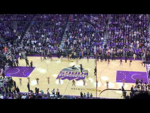 First regular season game at Golden One Center, opening ceremonies