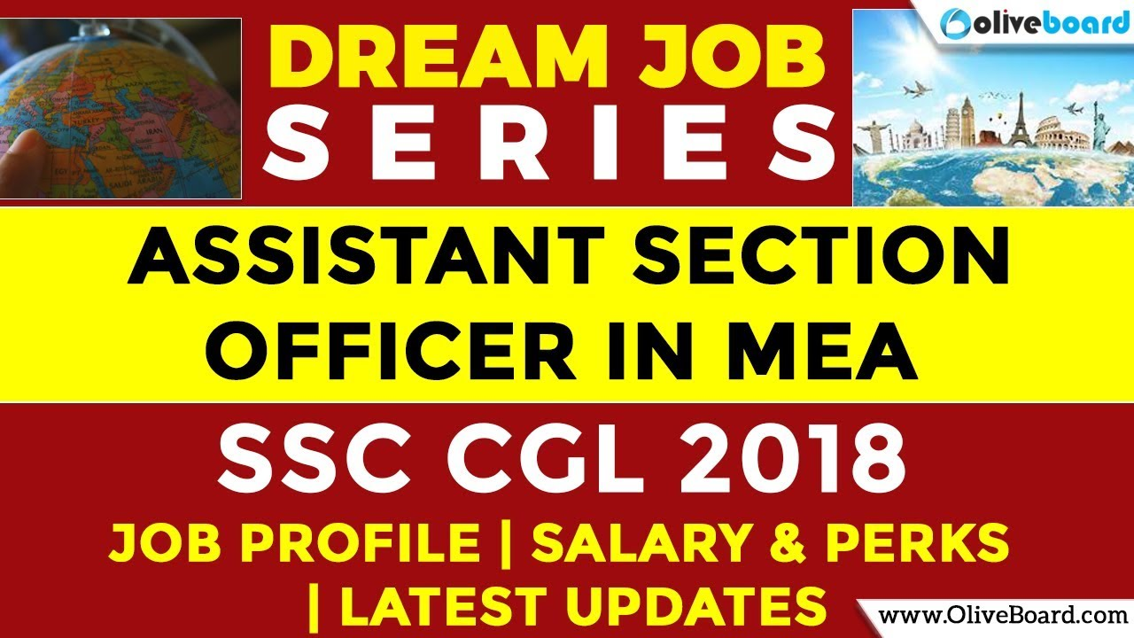 ASO in MEA   Ministry of External Affairs   SSC CGL jobs   Salary   Latest  Updates   Job Profile