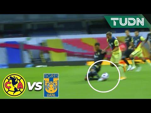 ¡Salvadora! Gran barrida de Reyes   América 0-0 Tigres   Guard1anes 2020 Liga BBVA MX - J16   TUDN