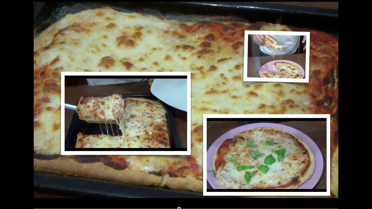 Pizza fatta in casa rotonda classica e rettangolare al for Pizza in casa