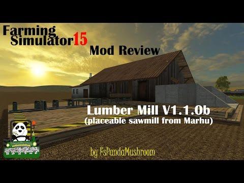 Farming Simulator 15 Mod Review Lumber Mill V1 1 0b(Marhu)(en)