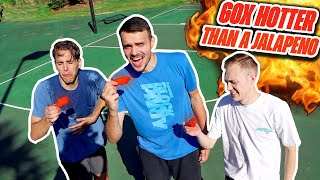 Eating Extreme Hot Wings After Every Miss In Horse!