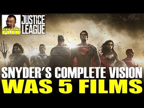 ZACK SNYDER'S COMPLETE DC VISION WAS 5 FILMS!