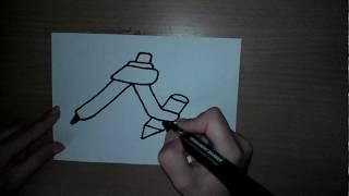 Как нарисовать циркуль - How to draw compasses - 如何绘制罗盘