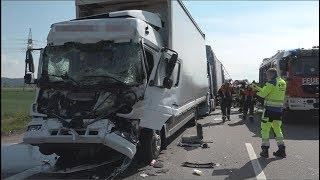 Schwerer Lkw-Unfall auf der A3