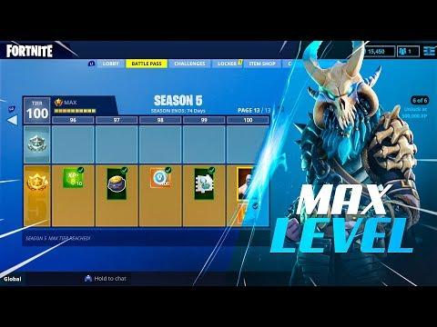 ALL Season 5 Battle Pass Rewards (MAX LEVEL TIER 100!)