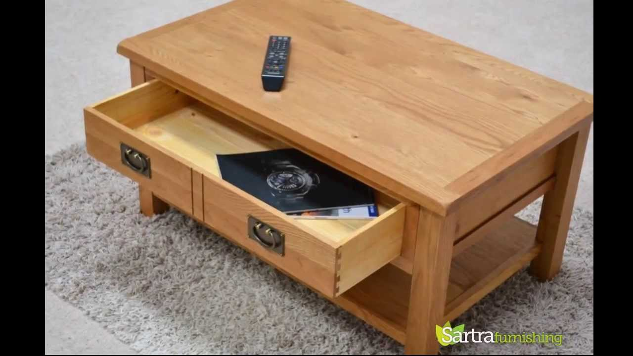 Sartra Beaufort Range Coffee Table With Storage Drawer