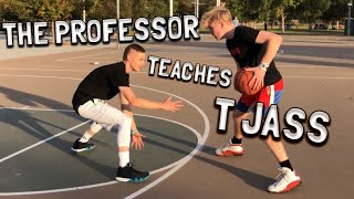 The Professor tries CRAZY layups and teaches me new moves!!