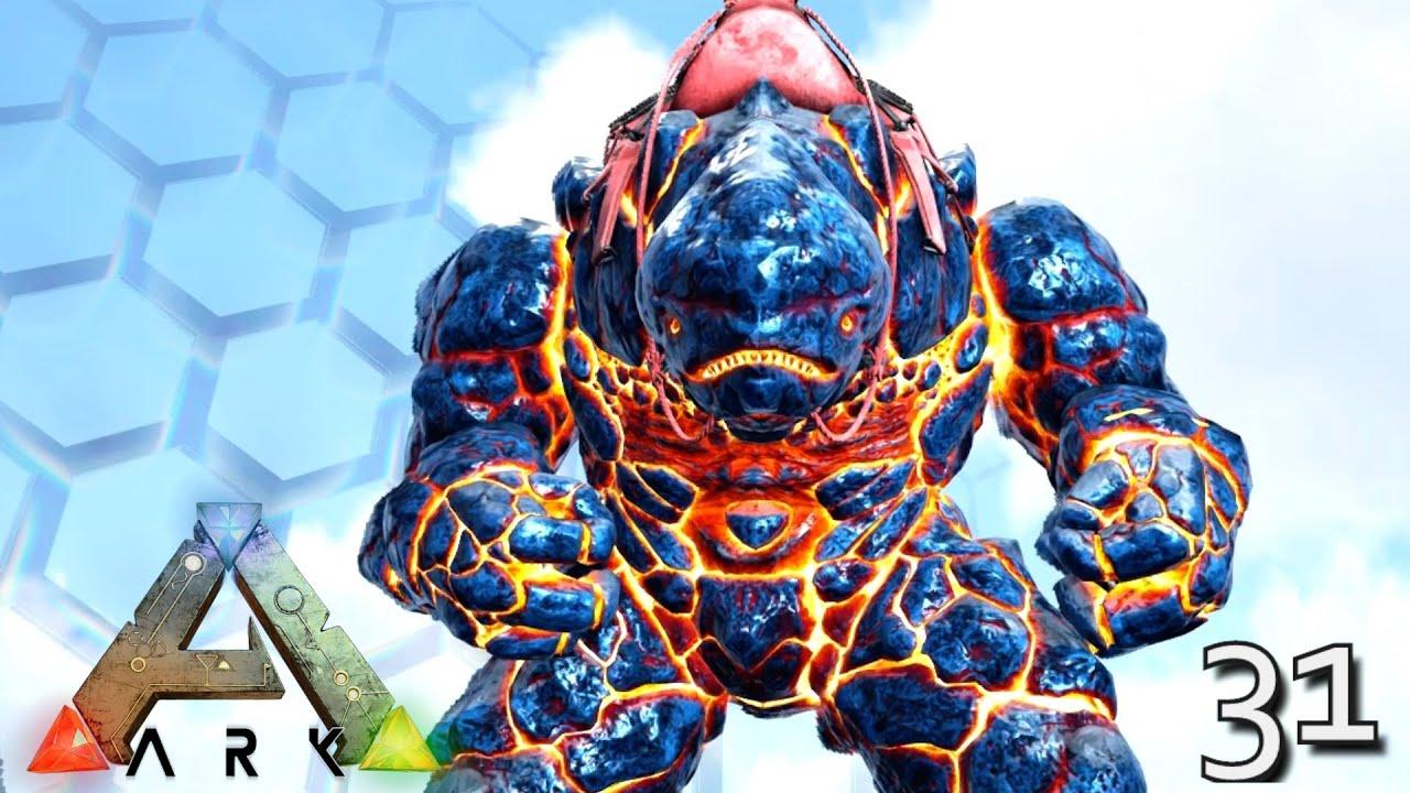 Ark Genesis Lava Golem X Rock Elemental Mek Taming Ark Survival Evolved E31 Youtube