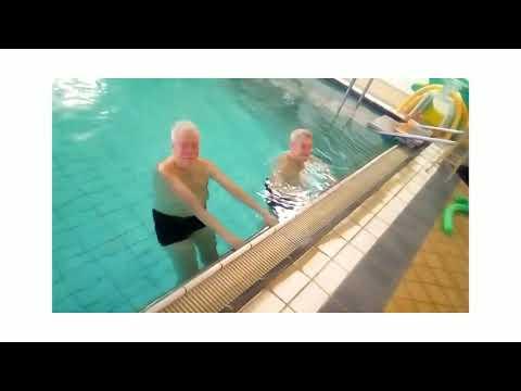 Stroke-vattengympa med Bertil och Christer
