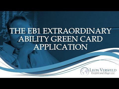 The EB1 Extraordinary Ability Green Card Application - #Immigrate2America Ep09