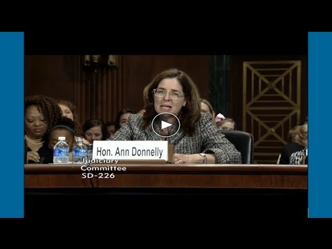 Ann Marie Donnelly. Senate Confirmation Hearing, May 6, 2015
