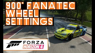 FH4 FORZA HORIZON 4 - 900 DEGREE FANATEC WHEEL SETTINGS FOR PC WITH WHEEL  CAM - DRIFT - ROAD - DIRT by Kiwi Spec