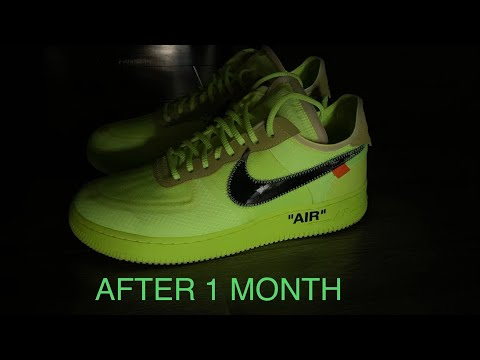 After 1 Month Of Wear: Off White Nike Air Force 1 Volt