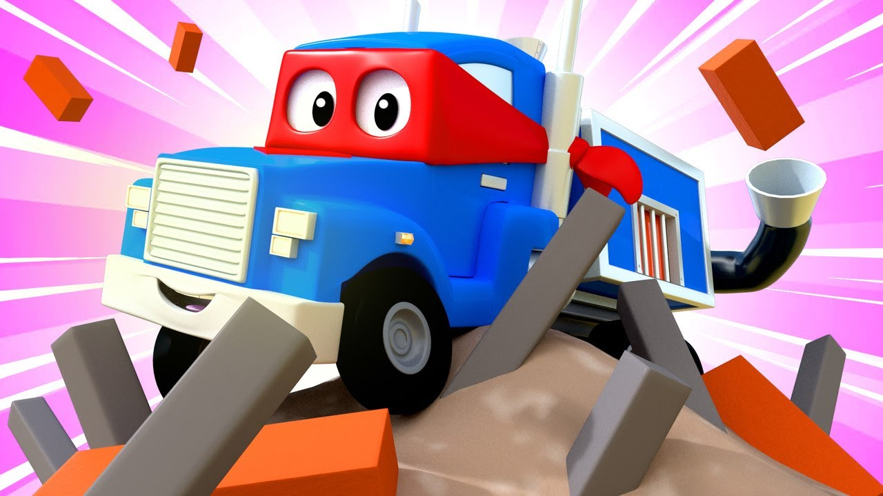 desene cu camioane pentru copii-Camionul incineratorului-Super Camionul Carl în Orasul Masinilor ?
